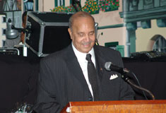 Browning accepts the 2005 Black Community Leadership Award, 26/02/2005 � photo courtesy of Jim Allen