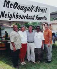 McDougall Street Neighbourhood Reunion, photo courtesy of Nancy Allen