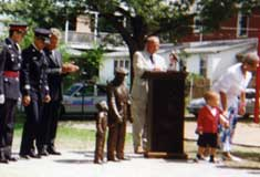 Dedication of Statue in Alton C. Parker Park � Photo Courtesy of Freida Parker Steele