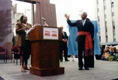 Justice Juanita Westmoreland- Traore and Nelson Mandela at The Canadian Tribute to Human Rights on September 24, 1998 � Photo Courtesy of Mark Webster