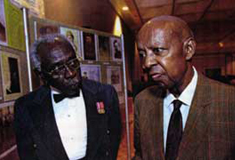 WWII Veterans Lt. Col. Kenneth Jacobs and Jim Watson receive recognition at the Emancipation Awards Gala