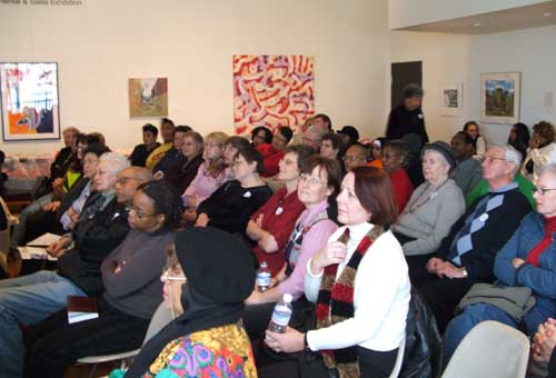 A great turn out for the Quilts Can Tell a Story lecture � Photo Courtesy of Jim Allen
