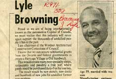 City Council candidate J. Lyle Browning