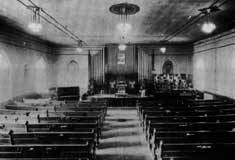 Interior of the original BME Church � photo courtesy of the McCurdy Collection at the Archives of Ontario
