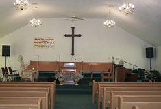 The interior of Mount Zion Full Gospel Church � photo courtesy of Nancy Morand, City of Windsor department of heritage planning