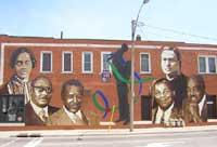 �Reaching Out� - The Wyandotte Town Centre Mural Project Photo H.Soulliere
