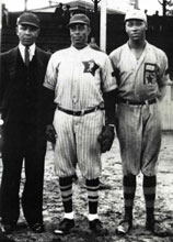 Players on rival teams William Bush (left) and �Flat� Chase (right)