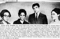 Hour-A-Day Study Club Award Recipients, Windsor Star 9/10/1968