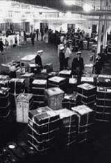 Steamer trunks at Pier21 Courtesy of Pier21