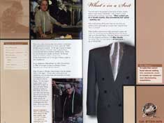 P11406B - Mike Vonella- Brochure about His company 'Vonella Custrom Clothing' and His Excellent Work