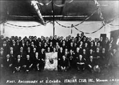 P9396 - First Anniversary of incorporation of the Caboto Club, April 1928