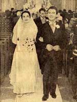 The Wedding of Emilia Cundari and Sergio Pezzetti in 1965. Courtesy of Aldo Cundari.
