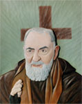 Padre Pio - 1978 - Woodcarving by Calegari Celso. Courtesy of Maria Abati.